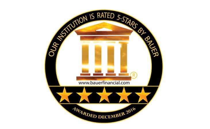 National Iron Bank Receives 5 Star Rating from BauerFinancial